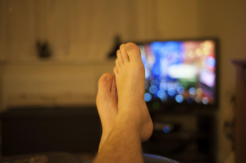 onrustig TV kijken, van rocker tot runner