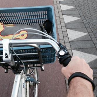 Maandag zoals altijd op de fiets naar werk