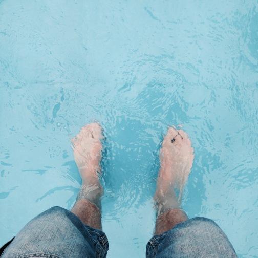 Zaterdag afkoelen in het zwembadje