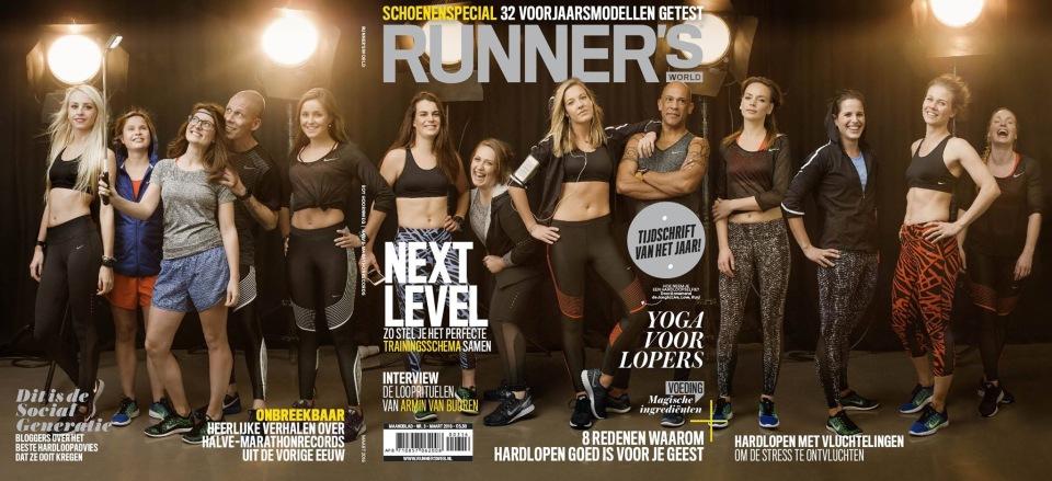 Op de cover van Runnersworld