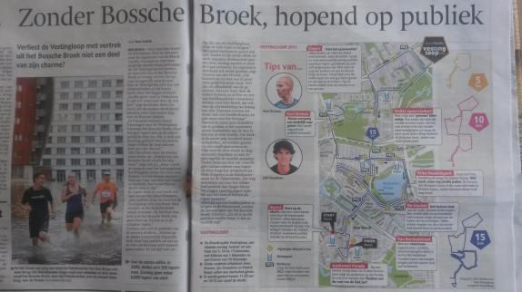Aan het woord in het Brabants Dagblad over de Vestingloop