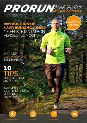 Op de cover van het eerste ProRun Magazine