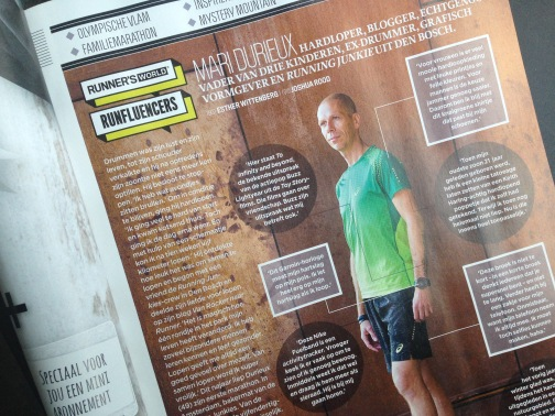 Runfluencer in Runner's World Magazine december 2014