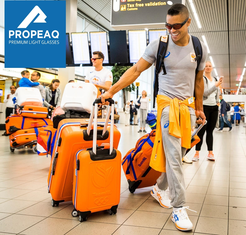 Jeffrey Wammes Propeaq light glasses Rio Olympics Schiphol Airport.jpg
